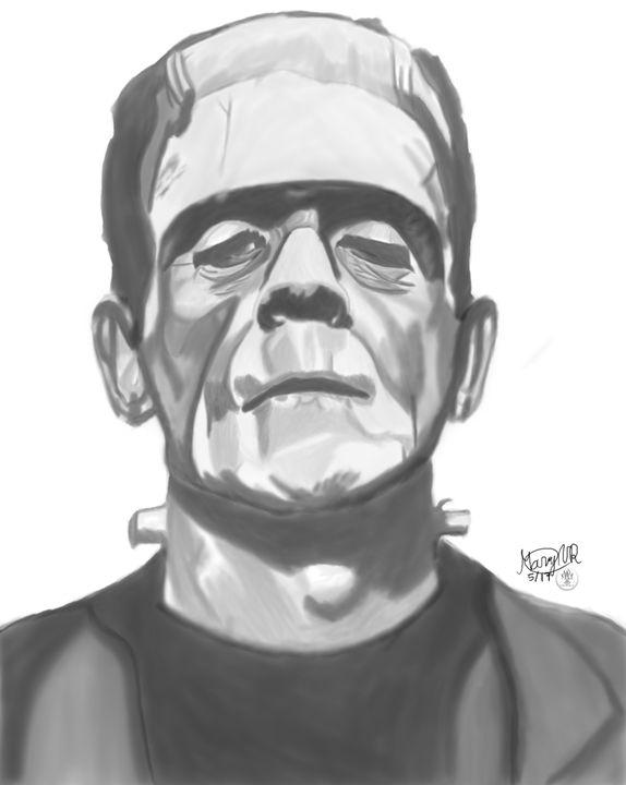 Boris Karloff's Frankenstein - Graphite & Digital Art