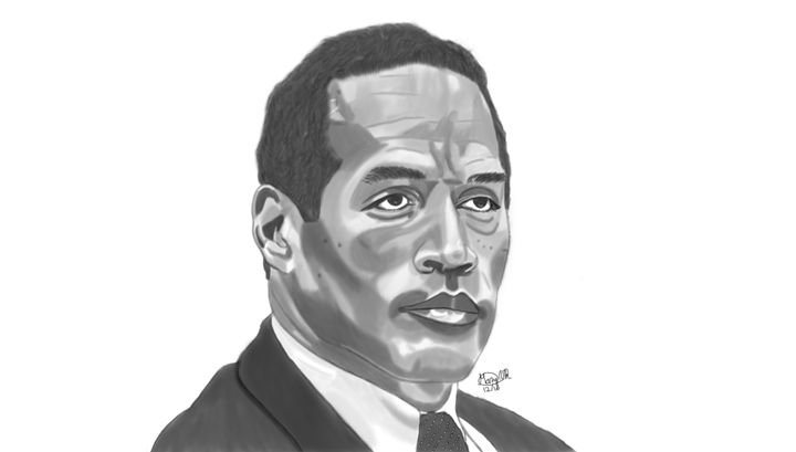 OJ Simpson - Graphite & Digital Art