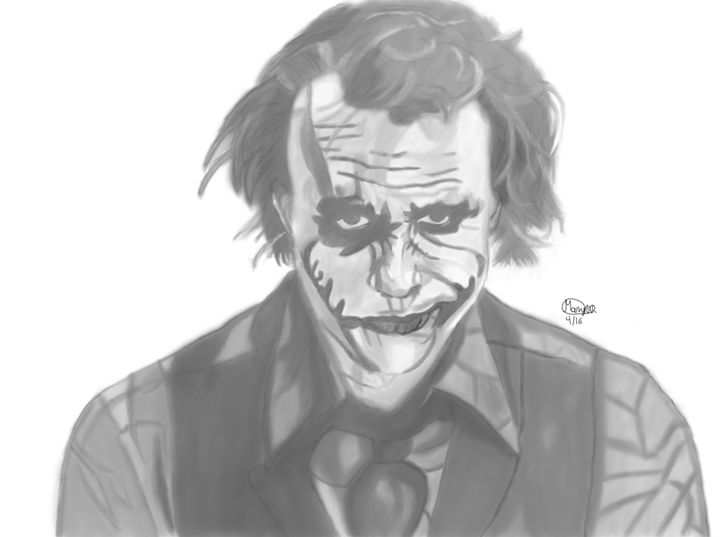 The Smile of a Clown - Graphite & Digital Art