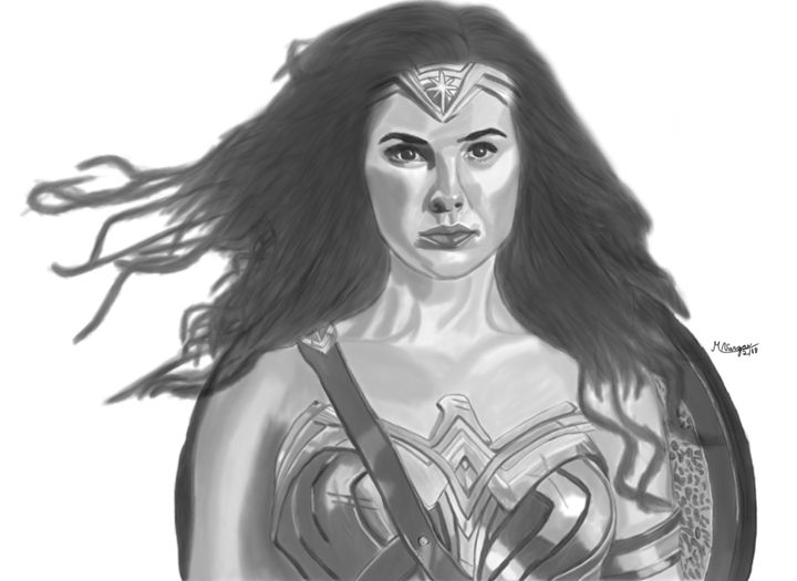 Wonder Woman - Graphite & Digital Art