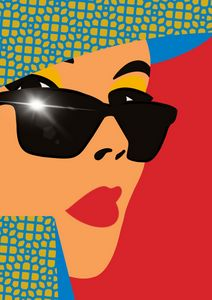 Pop Art - Girl in shades.