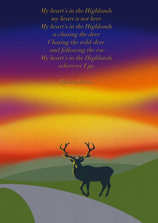 Highland Deer - Chris Martin