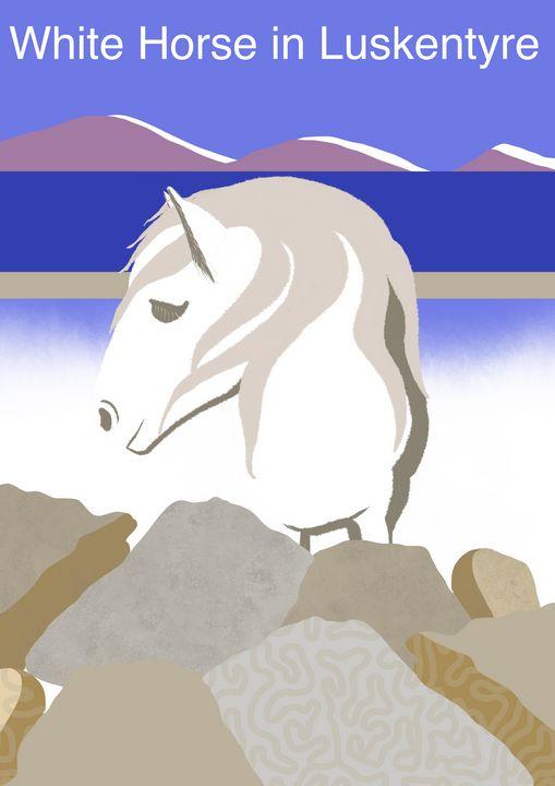 White Horse of Luskentyre. - Chris Martin