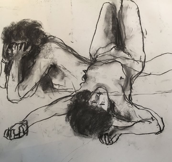 Original drawing female nude 1887 - IanMorrisArt