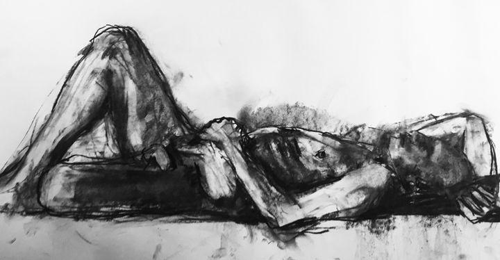 Original drawing, nude 1864 - IanMorrisArt