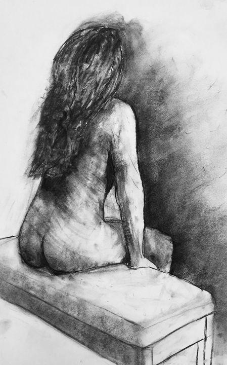 Nude seated girl - IanMorrisArt