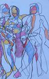 Original sketch, people dancing