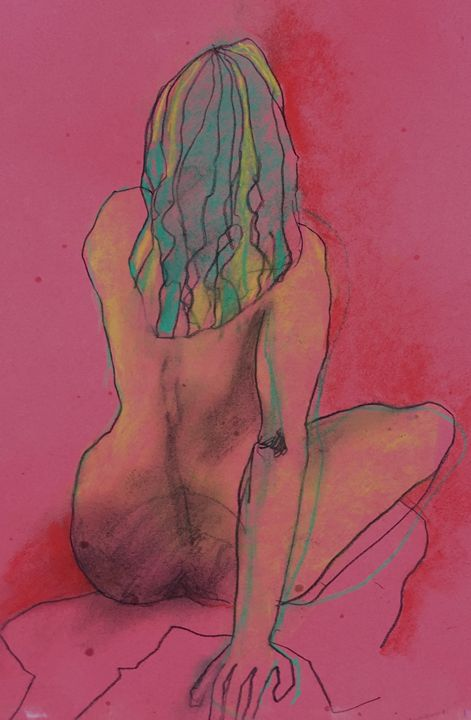 Girl with green hair - IanMorrisArt