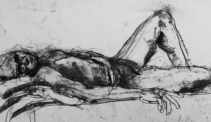 Nude original drawing 1638 - IanMorrisArt