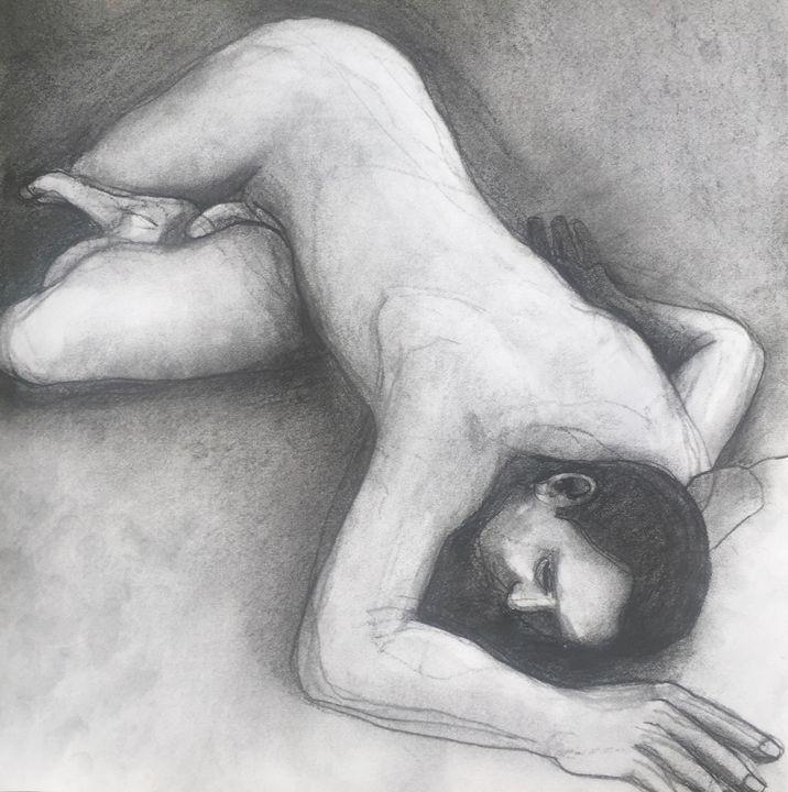 Nude male, drawing - IanMorrisArt