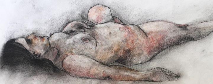 Original drawing nude woman 2833 - IanMorrisArt