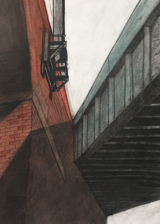Industrial bridge Manchester - IanMorrisArt