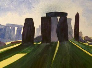 Watercolour, Stonehenge