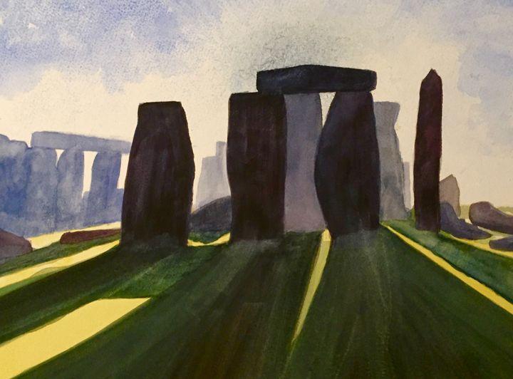 Original Watercolour, Stonehenge - IanMorrisArt