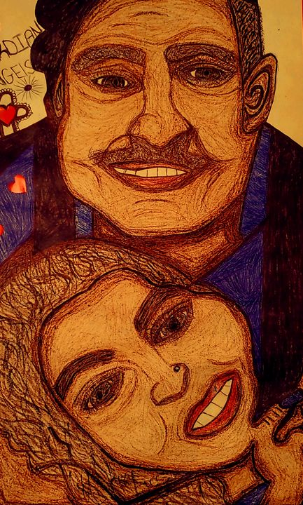 Father n daughter bond - Iris creative Art