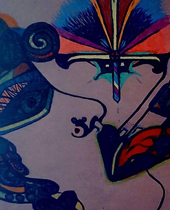 COLORFUL  QUEEN - Iris creative Art