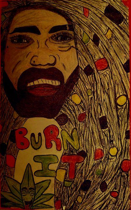 Bob Marley - Iris creative Art