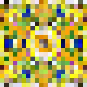 abstract colorfull yellow
