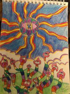 Psychedelic mushroom field - Trippy drippy hippy
