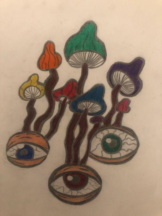 Eye mushrooms - Trippy drippy hippy