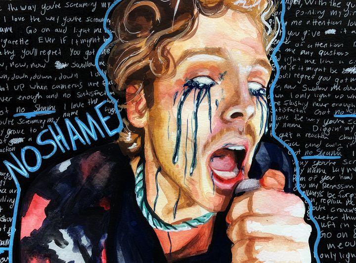 Luke Hemmings No Shame painting - Abby's Gallery