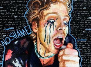 Luke Hemmings No Shame painting