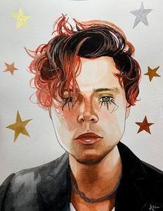 Ashton Irwin watercolour painting