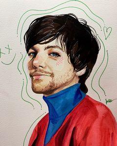 Louis Tomlinson painting
