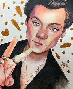 Harry Styles watercolour print