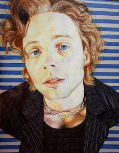 Luke Hemmings color pencil print