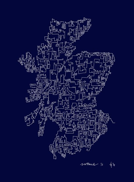 Scotland in Blue - abstractcartography