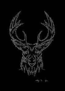 Stag's Head in Black