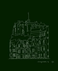 Edinburgh Castle in Green