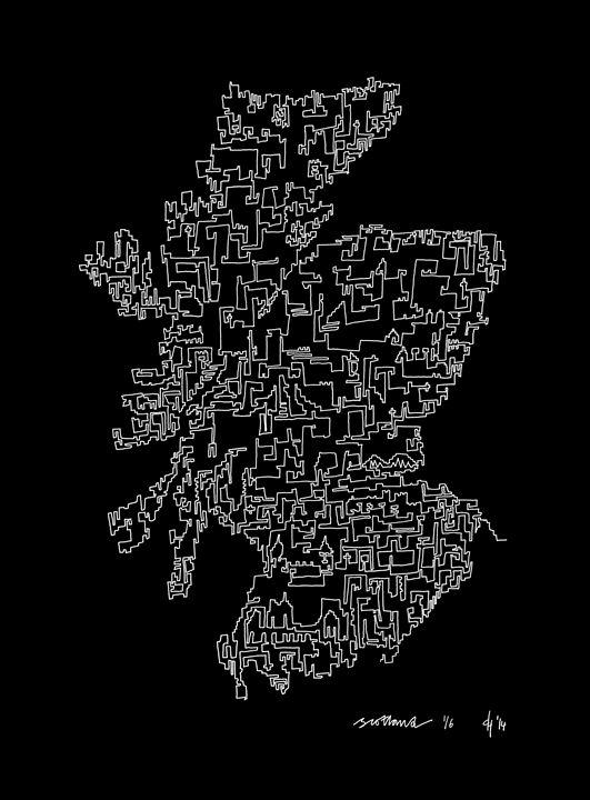 Scotland in Black - abstractcartography