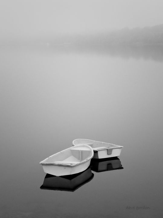 Two Boats and Fog - Dave Gordon Arts