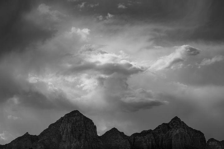 Sedona Landscape XX BW - Dave Gordon Arts