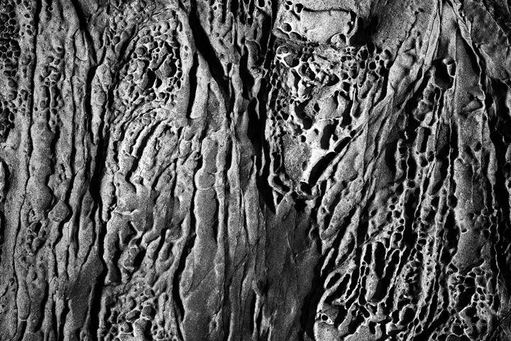 Sandstone Erosion I BW - Dave Gordon Arts