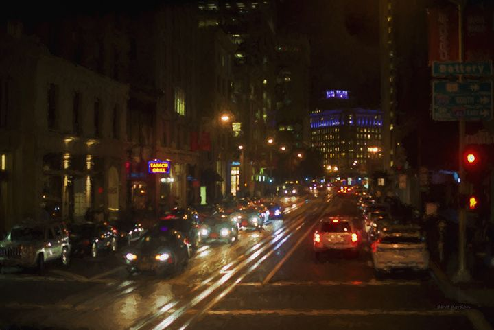 San Francisco Night I - Painterly - Dave Gordon Arts