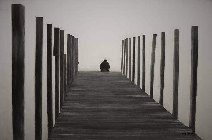 Sitting on the Dock - Dave Gordon Arts