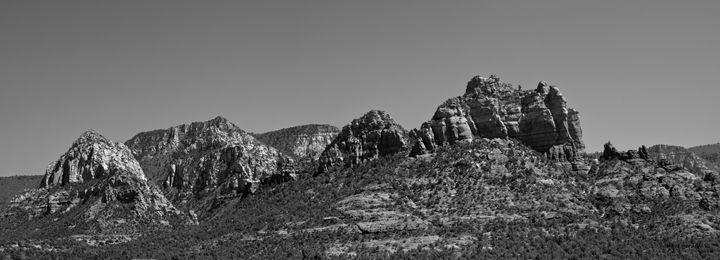 Sedona Arizona Panorama II BW - Dave Gordon Arts