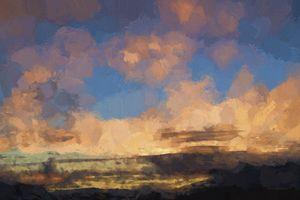 Moab Sunrise Abstract Painterly