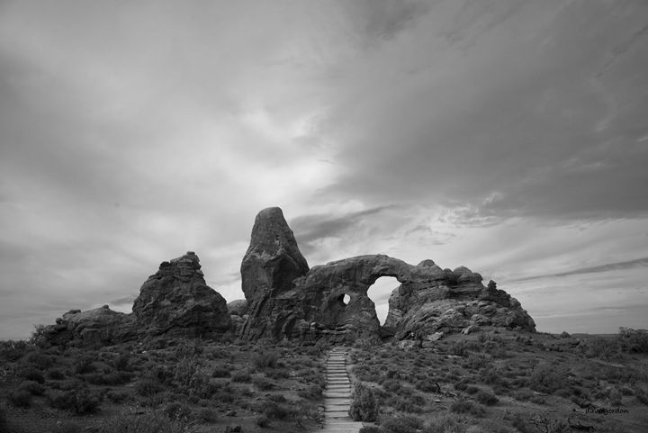 Arches NP X BW - Dave Gordon Arts