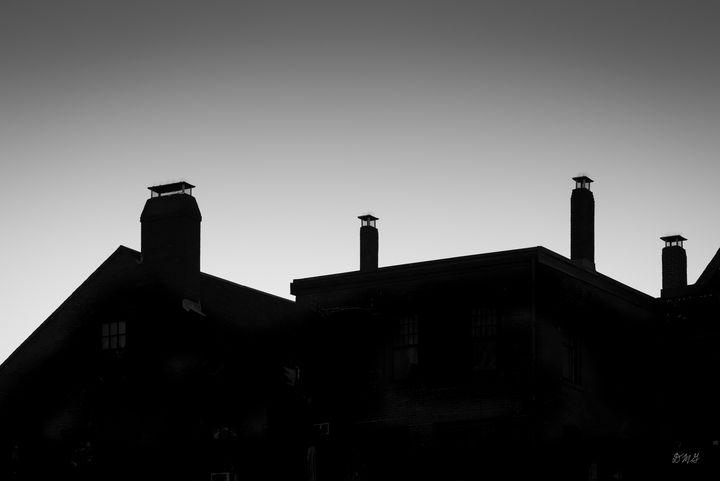 Gloucester Rooflines  BW - Dave Gordon Arts