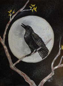 Raven Moonlight - WinterFlowerArt