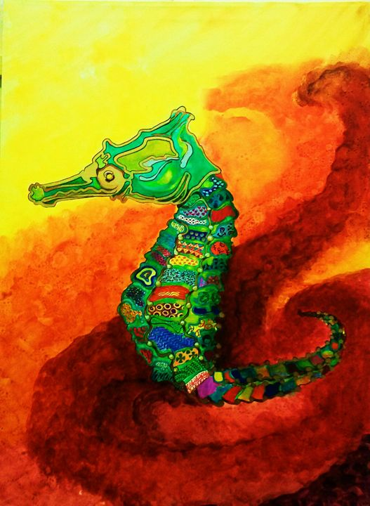 Quilted Seahorse - warm waters