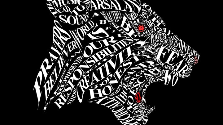 typography lioness - my graphic designs