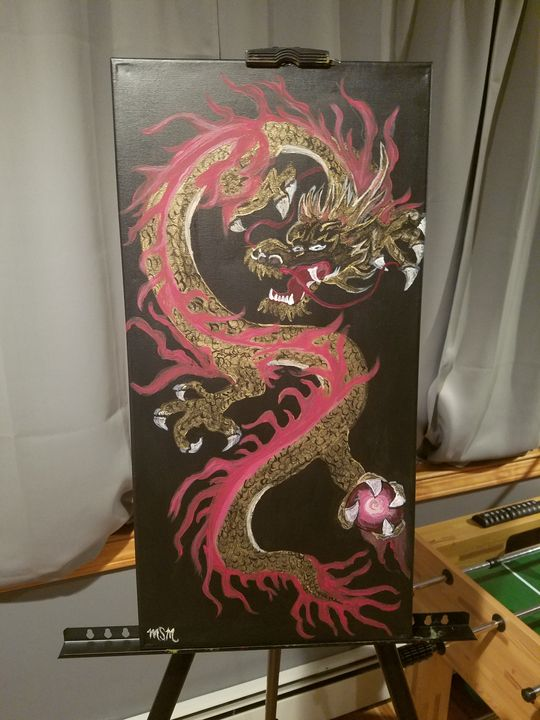 Golden Dragon - Canvas Art by Matt Medeiros