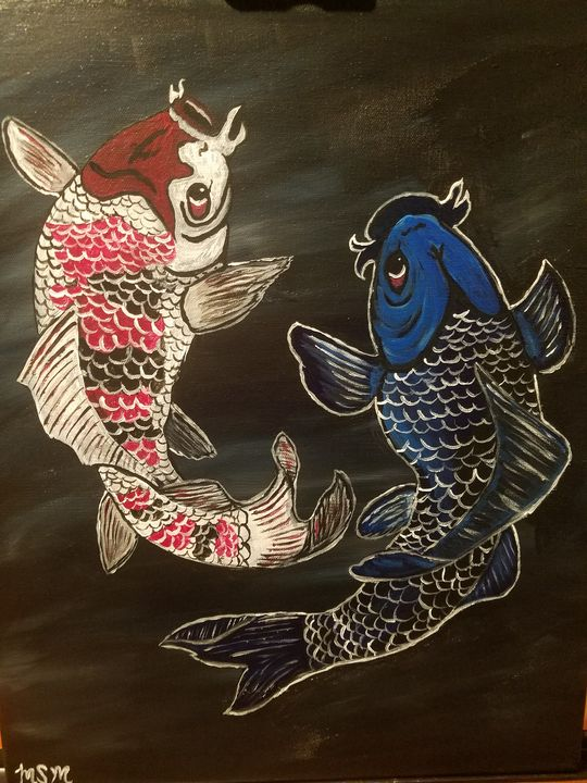 Koi - Canvas Art by Matt Medeiros