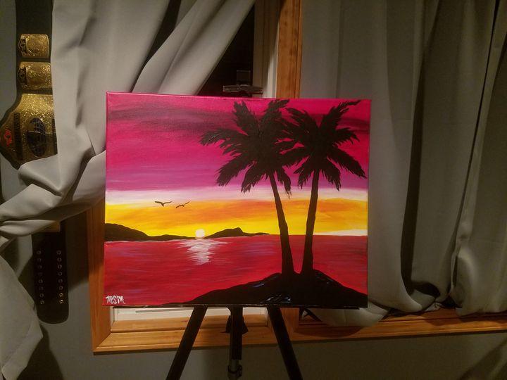 Tropical Sunset *Sold* - Canvas Art by Matt Medeiros