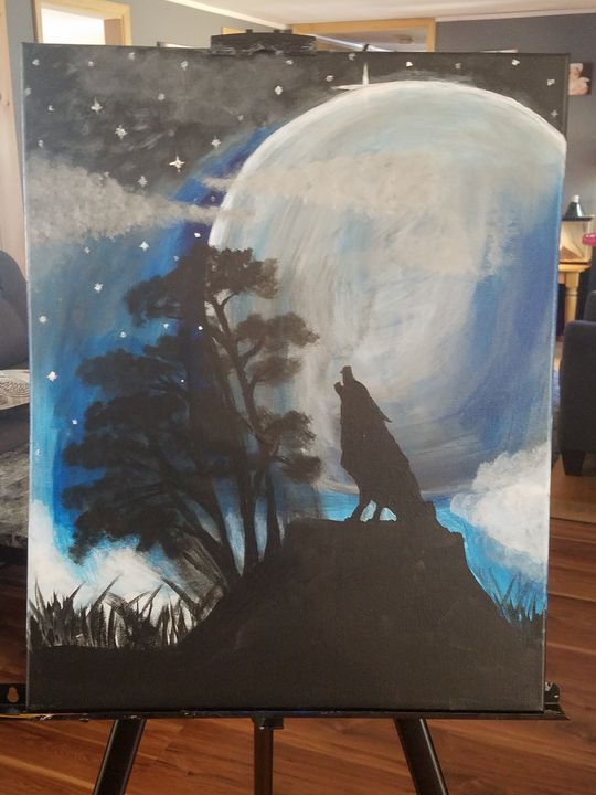 Bark at the Moon - Canvas Art by Matt Medeiros